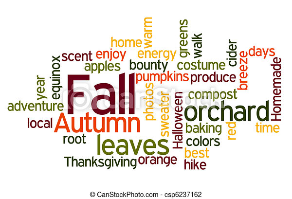 Fall Colors Wordcloud - csp6237162