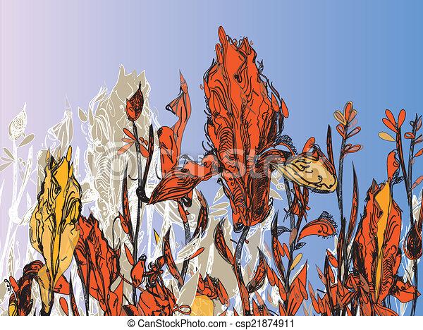Fall Floral - csp21874911