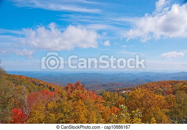 Fall Foliage Blue Ridge Mountains N C