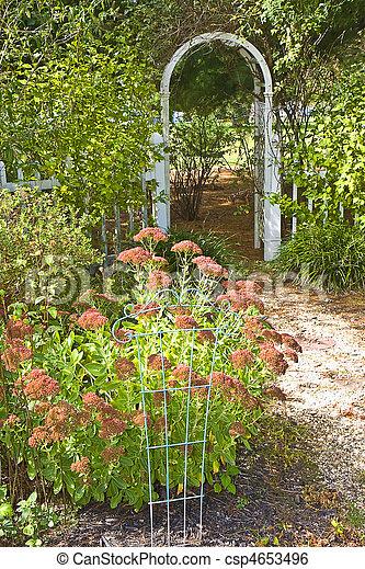 Exceptionnel Fall Garden With Trellis   Csp4653496