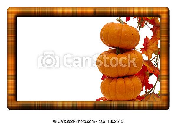Fall Harvest Border - csp11302515