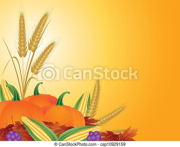 Fall Harvest Illustration - csp10929159