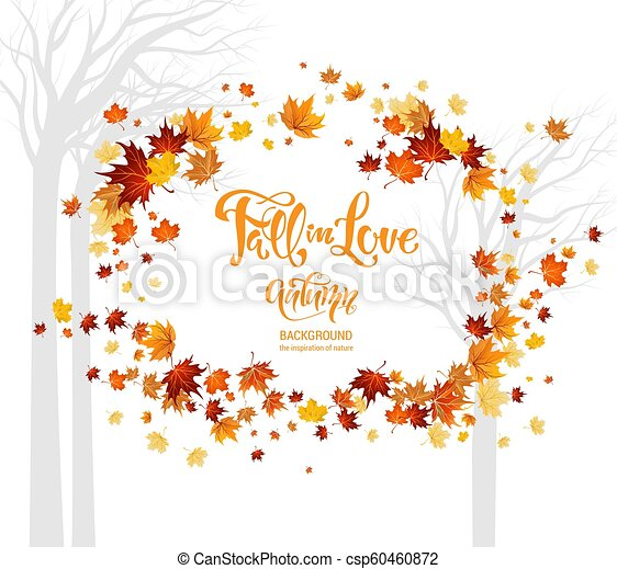 Fall in love leaves - csp60460872