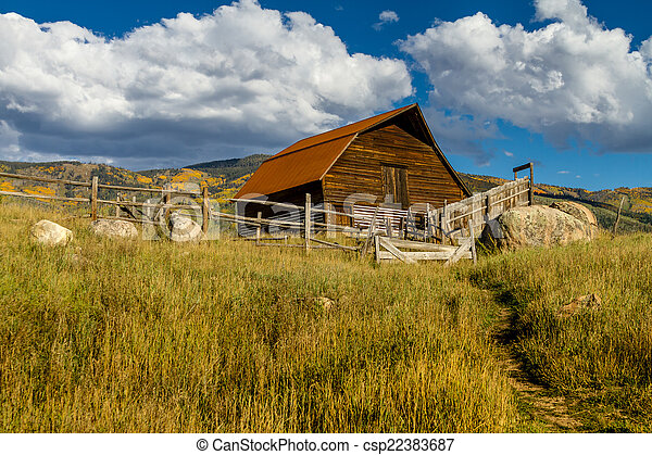 Fall in Steamboat Springs Colorado - csp22383687