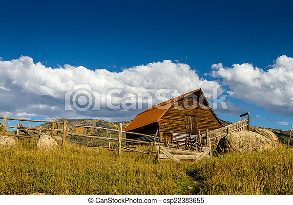 Fall in Steamboat Springs Colorado - csp22383655