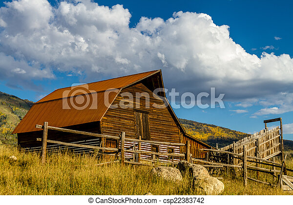 Fall in Steamboat Springs Colorado - csp22383742