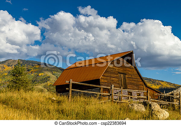 Fall in Steamboat Springs Colorado - csp22383694
