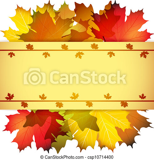 Fall leafs abstract background - csp10714400