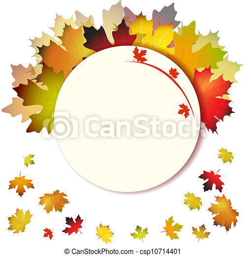 Fall leafs abstract background - csp10714401