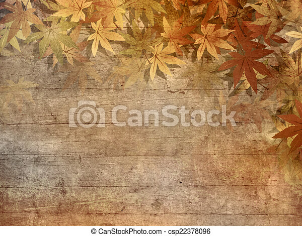Fall leaves border - csp22378096