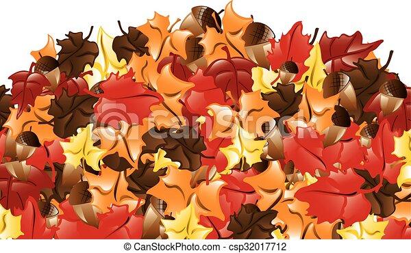 Fall Leaves border - csp32017712