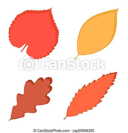 fall leaves vector illustration of color autumn leaves on rh canstockphoto ca fall leaves vector border fall leaves outline vector