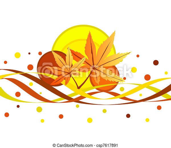 Fall leaves - csp7617891