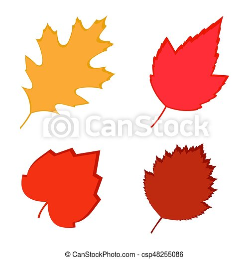 fall leaves vector illustration of color autumn leaves on vector rh canstockphoto com fall leaves vector art fall leaves vector border