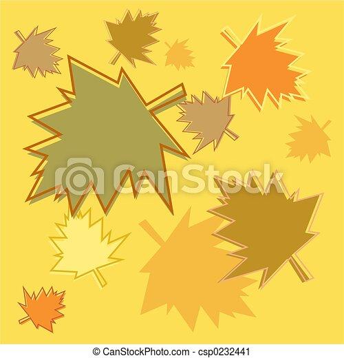 fall leaves tile - csp0232441