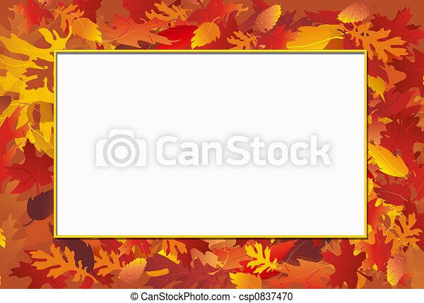 Fall Photo Frame - csp0837470