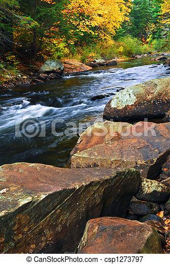 Fall river landscape - csp1273797
