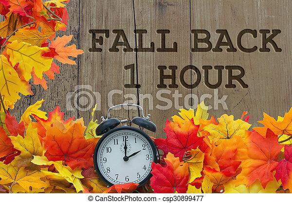 Fall Time Change - csp30899477