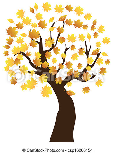 fall tree vector tree with fall leaves