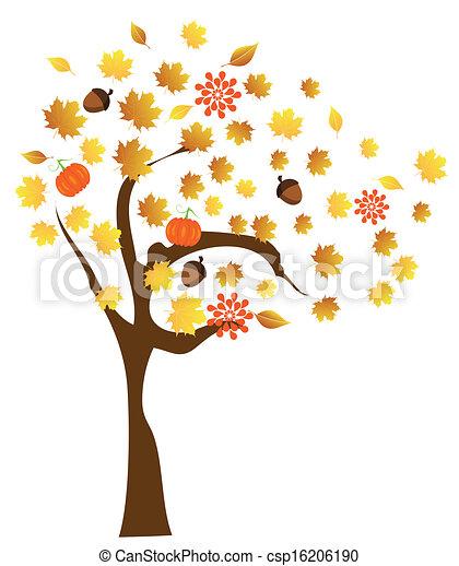 Fall Tree - csp16206190