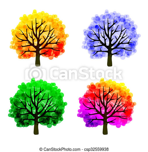 Fall tree template with abstract colorful leaves fall tree template csp32559938 maxwellsz