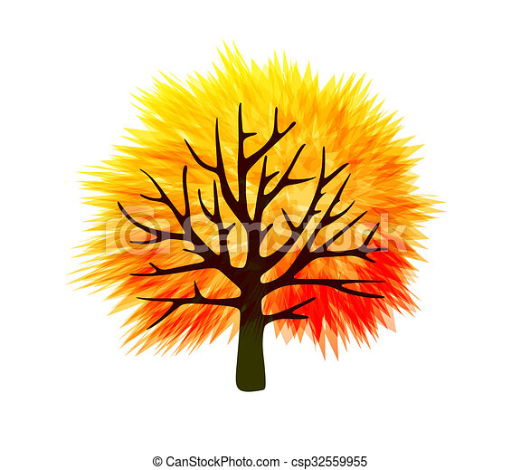 Fall tree template with abstract colorful leaves fall tree template csp32559955 maxwellsz