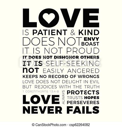 Frase Bíblica De 1 Corintios 138 El Amor Nunca Falla El