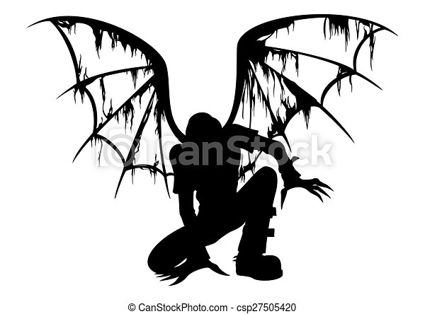 Fallen angel silhouette silhouette of the fallen angel with fallen angel silhouette csp27505420 thecheapjerseys Choice Image