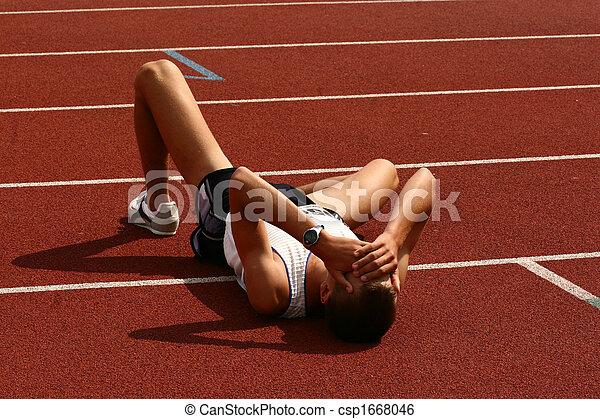 Fallen athlete - csp1668046