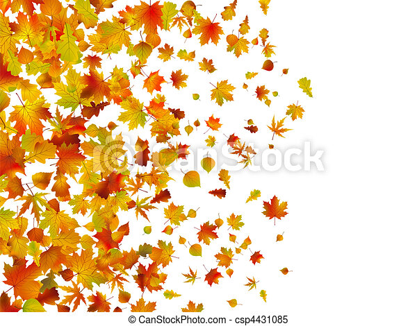 Fallen autumn leaves background - csp4431085