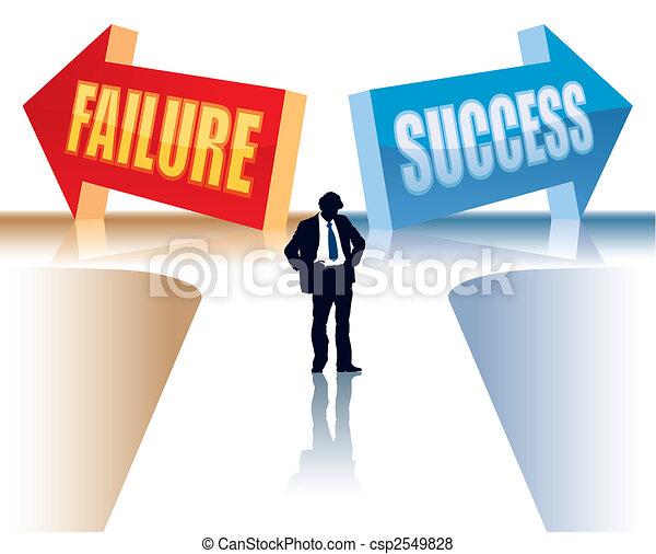 fallimento, o, successo - csp2549828