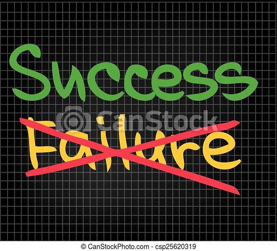 fallimento, successo - csp25620319