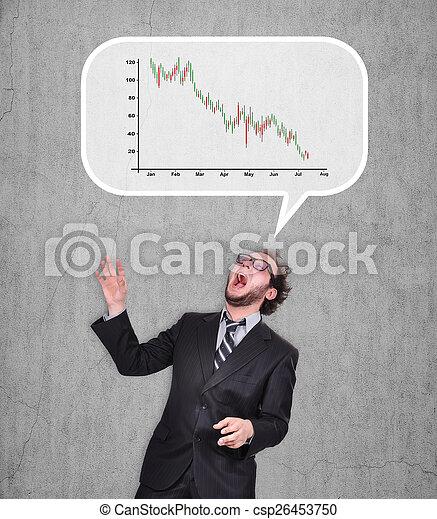 falling chart - csp26453750