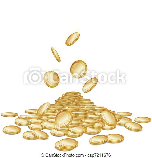 Falling coins - csp7211676