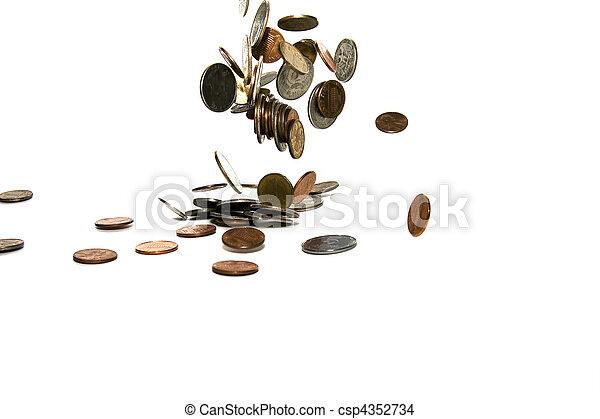 Falling coins  - csp4352734