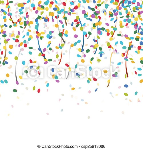 falling confetti endless - csp25913086