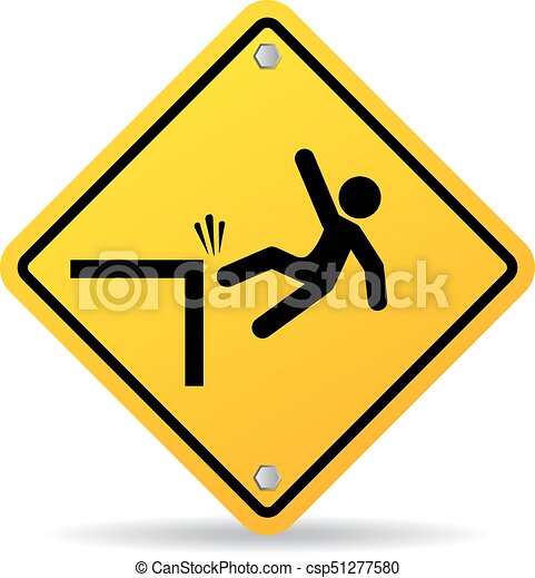 Falling danger vector sign - csp51277580