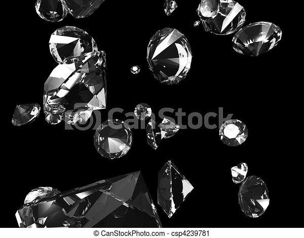 falling diamonds - csp4239781