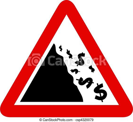 Falling Dollar Sign - csp4320079