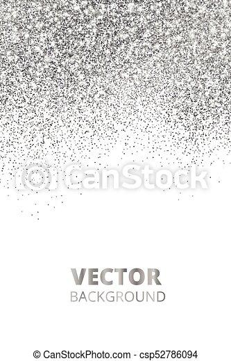 falling glitter confetti vector silver dust explosion