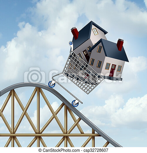 Falling Home Prices - csp32728607