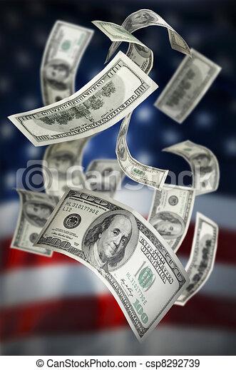 falling money 100 bills stock illustration search vector clipart rh canstockphoto ca Dollar Bill Clip Art Black and White Dollar Bill Clip Art No Background