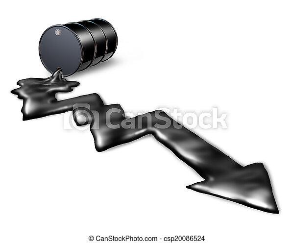 Falling Oil Prices - csp20086524