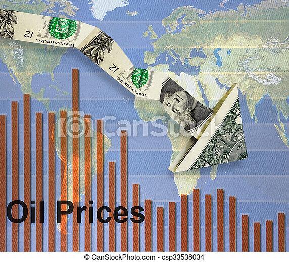 Falling oil prices - csp33538034