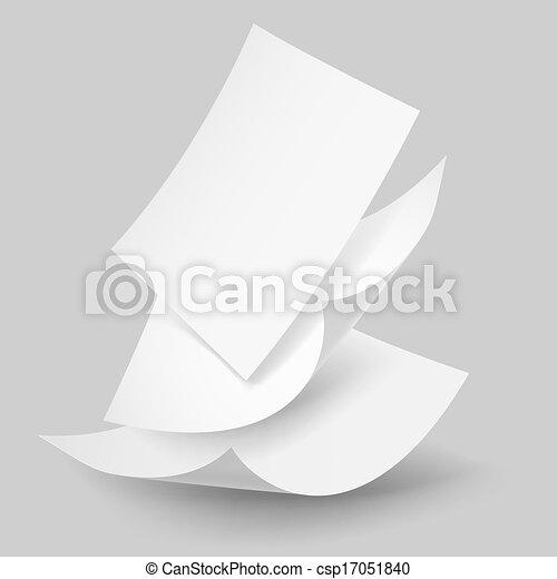 Falling paper sheets. - csp17051840