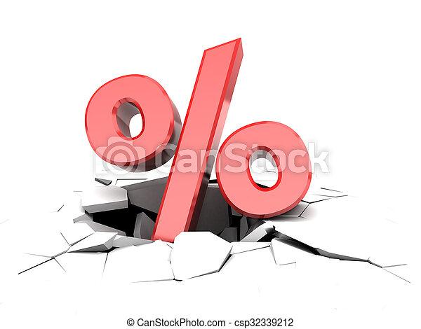 falling percent - csp32339212