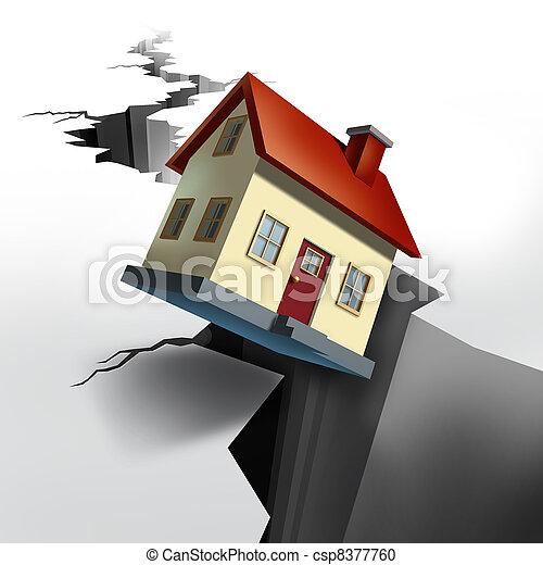 Falling Real Estate - csp8377760