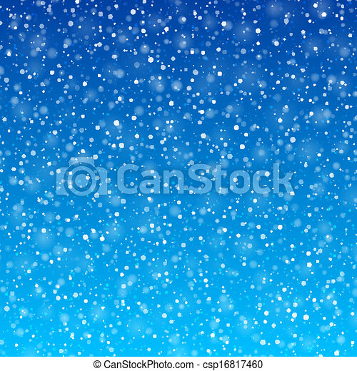 Falling snow - csp16817460