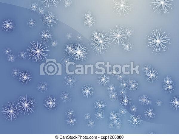 Falling snow - csp1266880
