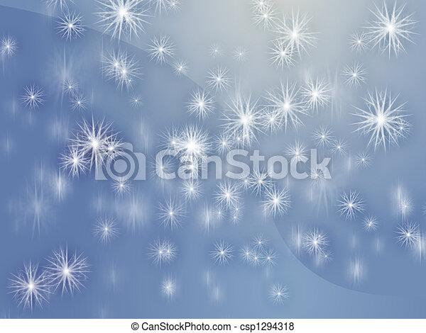 Falling snowflakes - csp1294318